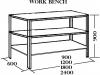 Work bench 2 shelf